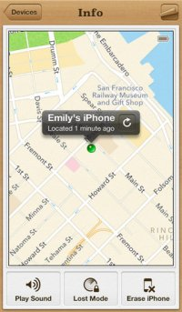 Find My iPhone на планшет